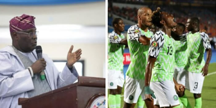 """""""We're Proud Of You All The Time""""- Atiku Reacts To Super Eagle's Lose"""