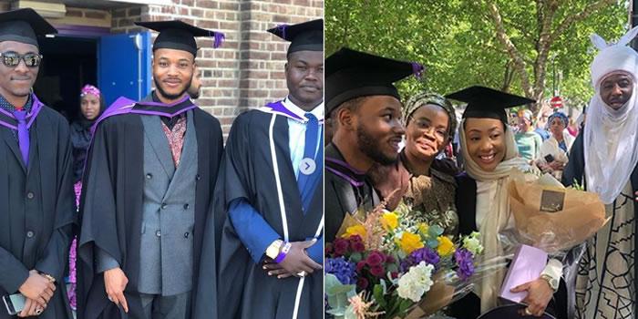 Adam Sanusi's Graduation. Photo: Legit.ng