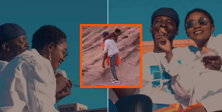 Simi And Adekunle Gold Share Cute Lovebirds Moments In 'By You' Video