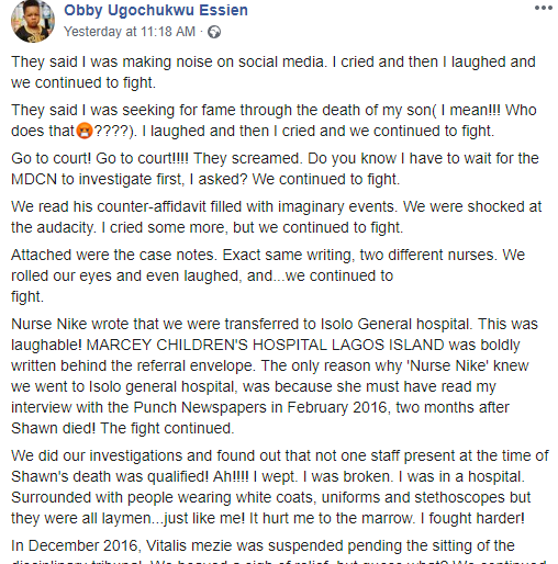 Lady finally gets justice against Lagos hospital and doctor 4 years after her son was allegedly killed