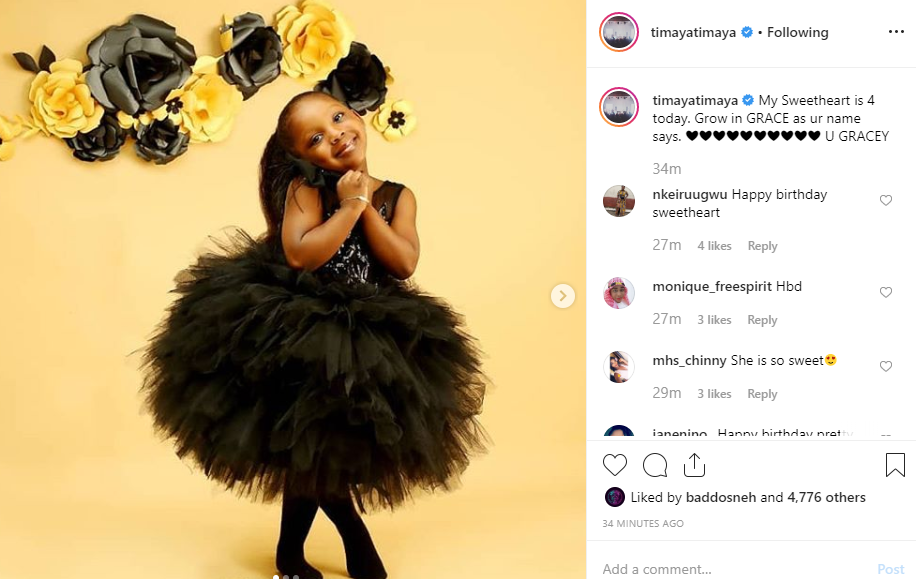 Timaya celebrates daughter on 4th birthday (photos)