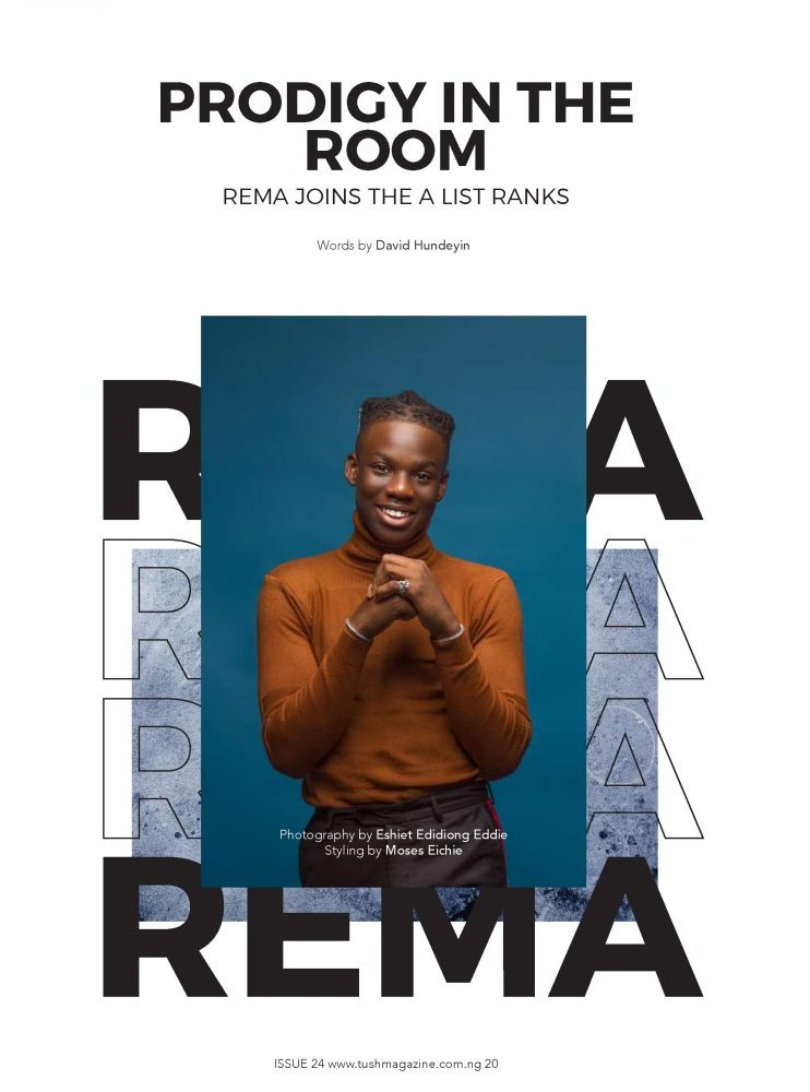 Mavin Records' Wonder Boy, Rema, Dubbed Leader Of New Generation, As He Covers Tush Magazine's Summer Issue