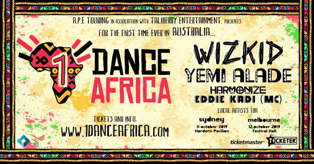 Wizkid, Yemi Alade Unveiled As Headliners For Australia's First Afrobeats Concert Series, 1Dance Africa