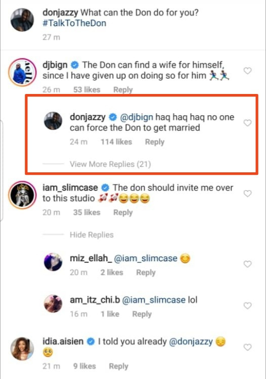 Don Jazzy Speaks On Getting Married, As Slimcase Requests For Studio Session