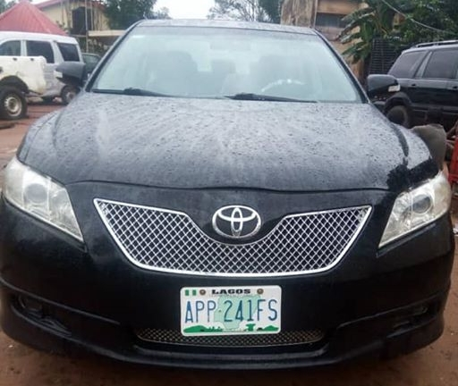 Photo: Recovered Toyoto Camry