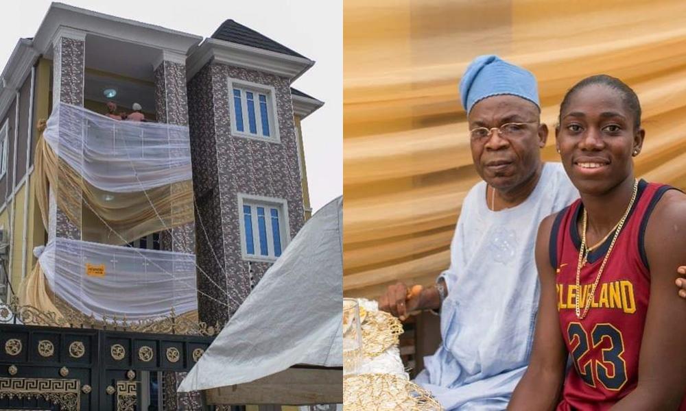 Nigerian Football Star, Asisat Oshoala, Gifts Parents MultiStorey Building