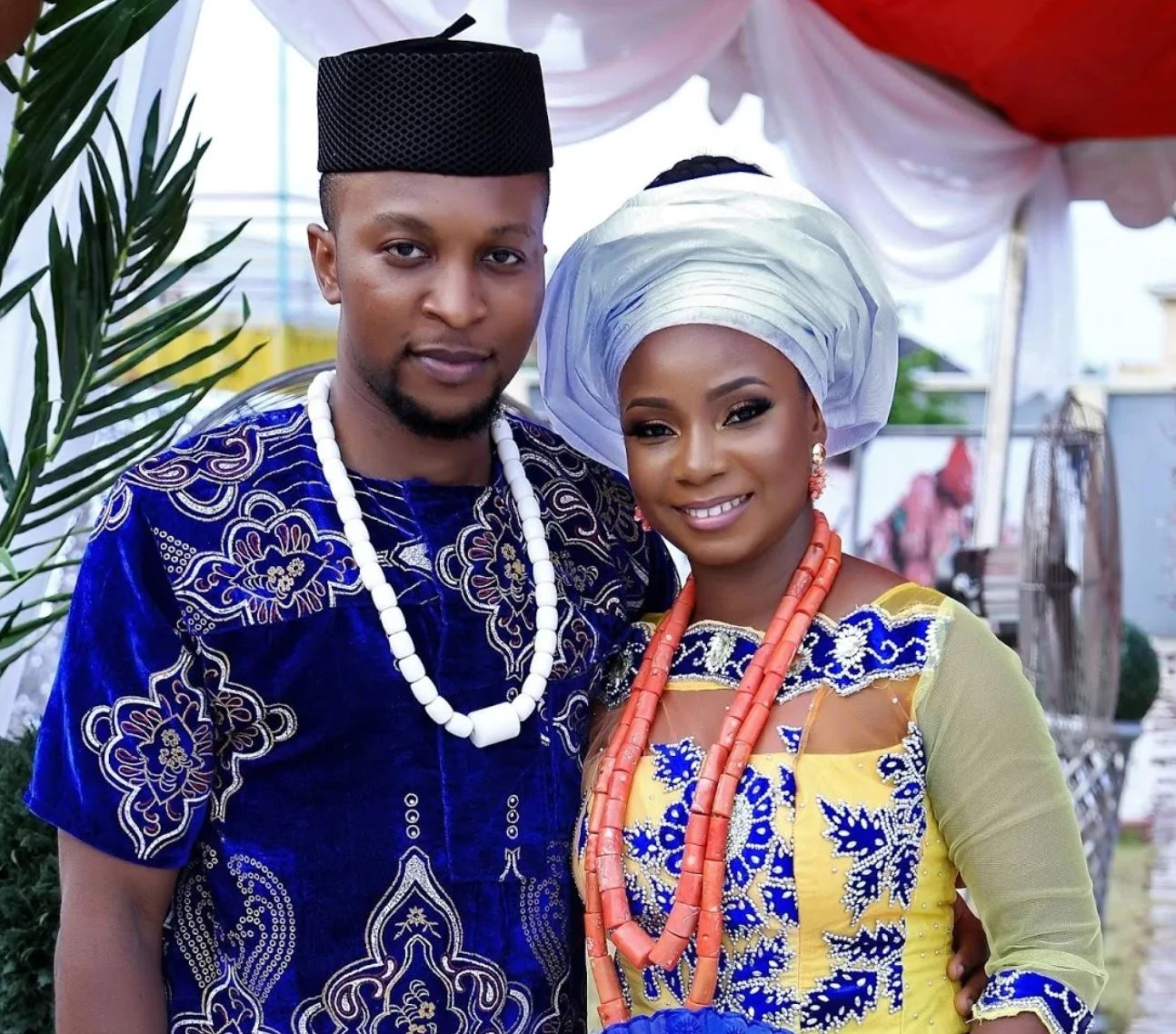 Genevieve Nnaji's daughter, Chimebuka and her husband husband Prince Osi Chigozie Ikediwa.