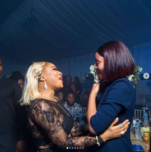 Actress Regina Daniels gushes about meeting Tonto Dikeh (photos)