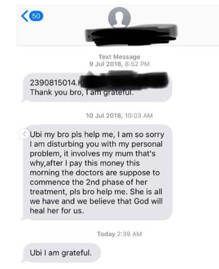 Ubi Franklin shares encounter with someone he helped in 2018
