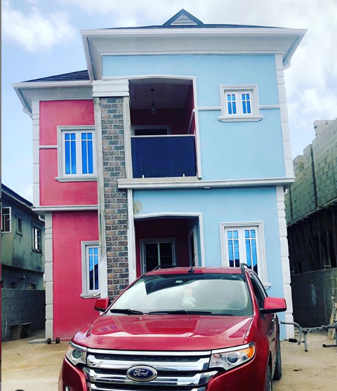 Wizkid's associate, Roy Obinna becomes house owner in Lagos (Photo)