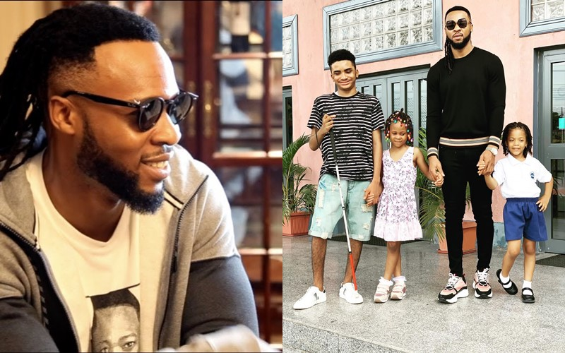 Image result for Flavour Shares Adorable Photo With His Kids