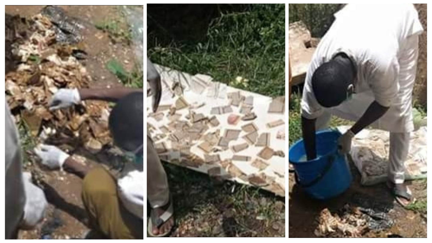 Image result for PHOTOS: Several Pages Of Holy Qur'an Retrieved From School Sewage, Zamfara Govt. Suspends Staff Indefinitely