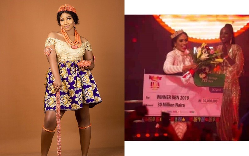 Image result for images of ''I am sincerely happy for you''- Tacha congratulates Mercy for winning Big Brother