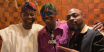Davido gifts Zlatan a 30BG Diamond Chain As They Pose With His Billionaire Father, Adeleke In Atlanta