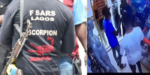 SARS caught on CCTV footage collecting iPhones of boys shopping in a boutique (Video)