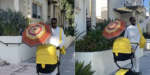 """Back on my daddy duties"" – D'banj enjoys a stroll with his newborn baby (Video)"