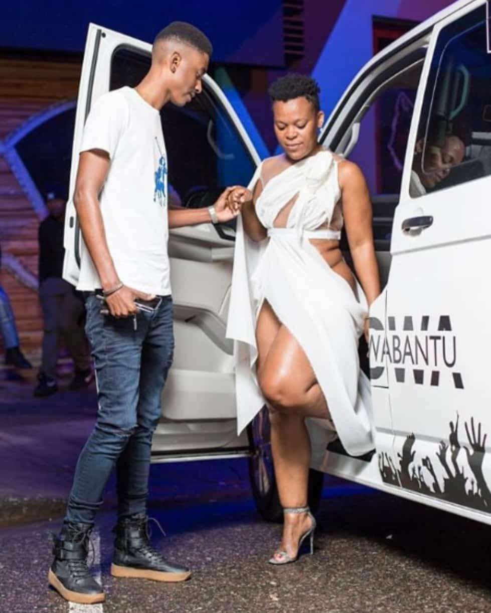 Pantless South African Dancer Zodwa Wabantu Test Drives