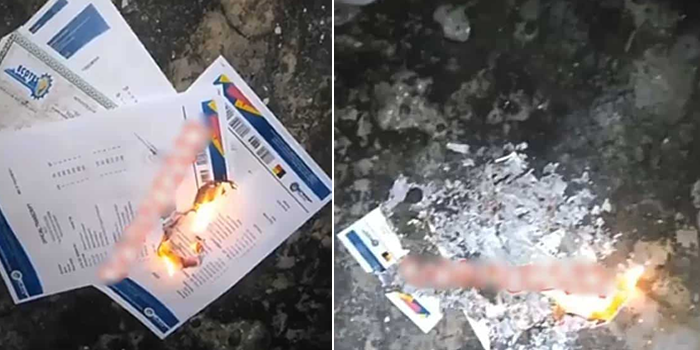 Boy burns school certificates to ashes, says school is a major scam (Video)