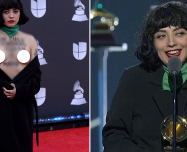 Chilean singer Mon Laferte goes unclad on Latin Grammys red carpet (+18 photos/video)
