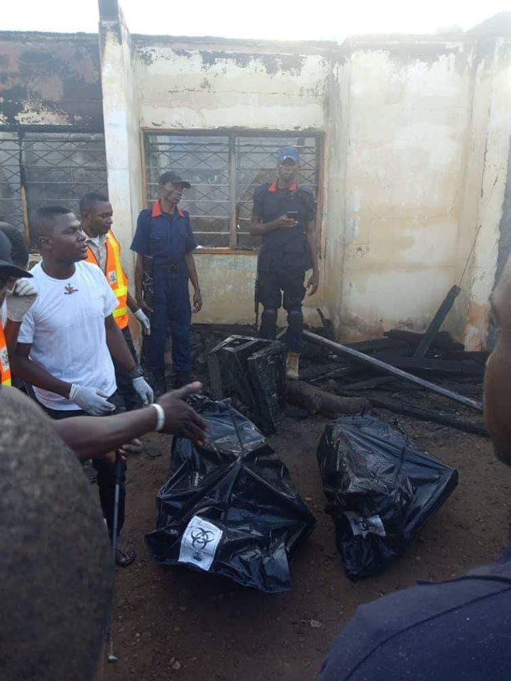 PHOTOS: Permanent Secretary, His Pregnant Wife And Two Kids Burnt To Death In Fire Outbreak 1