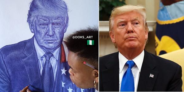 Never Give Up Donald Trump Replies Nigerian Boy Who Drew