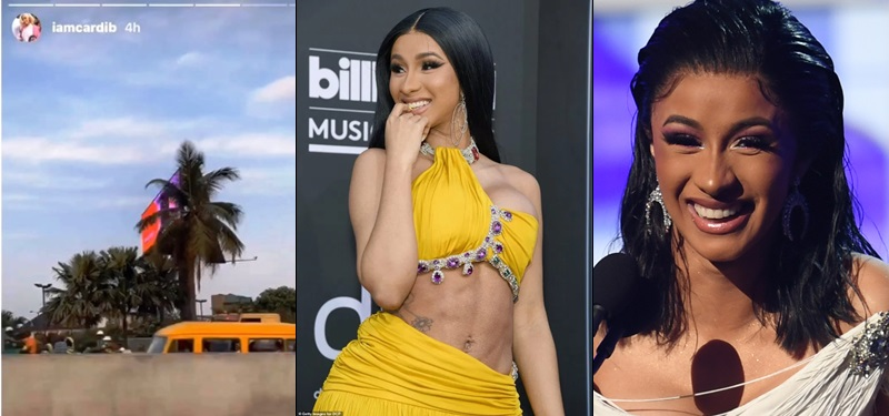 """Cardi B Shades The Country As She Arrives Lagos - """"We Are In Nigeria, No Light, """""""