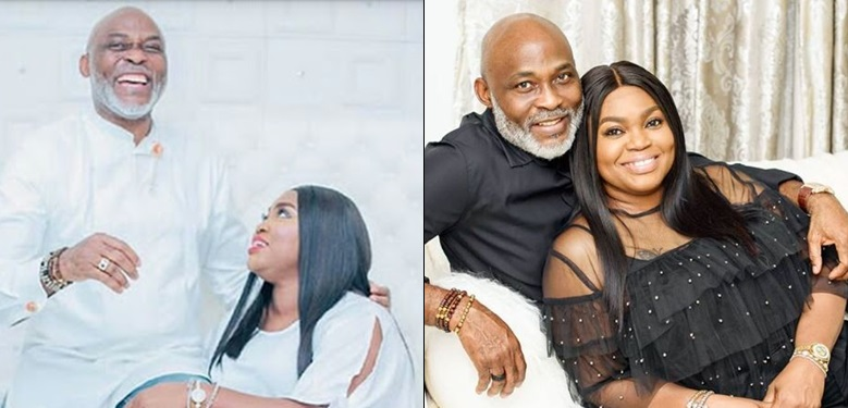 Image result for images of RMD and wife, Jumobi Mofe Damijo celebrate 19th wedding anniversary