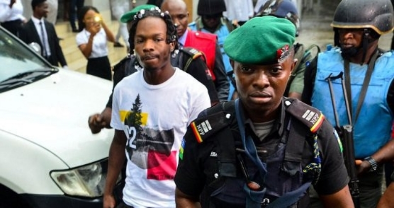FILED PHOTO: Naira Marley, NP OfficersFand EFCC officials heading to court