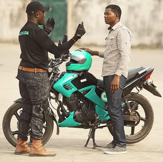 Gokada rider and his client bargaining