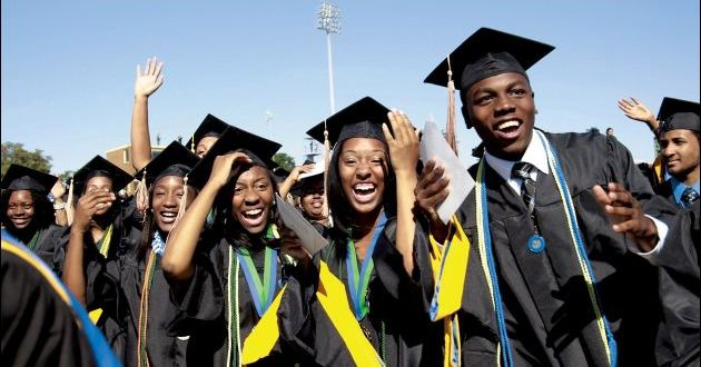 Fresh university graduates at a convocation ceremony in Nigeria.