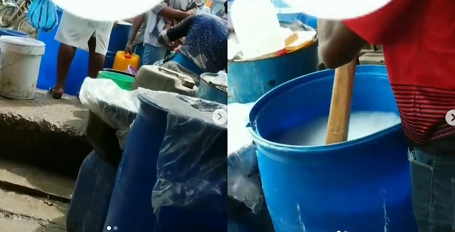 Video showing how hand sanitizers are being mixed in Ojota market surfaces online