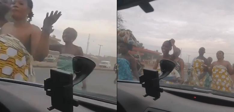 "Women in Ogun state parade topless as they make ""sacrifice to send away coronavirus"""