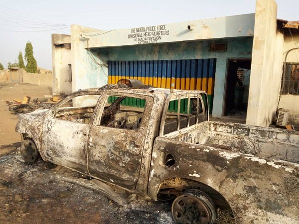 Angry youths burn police station in Katsina