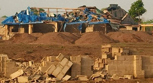 BREAKING: Explosion rocks Ondo, hundreds of buildings destroyed