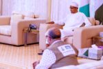 BREAKING: Presidency releases video of Buhari receiving Health Minister, NCDC DG