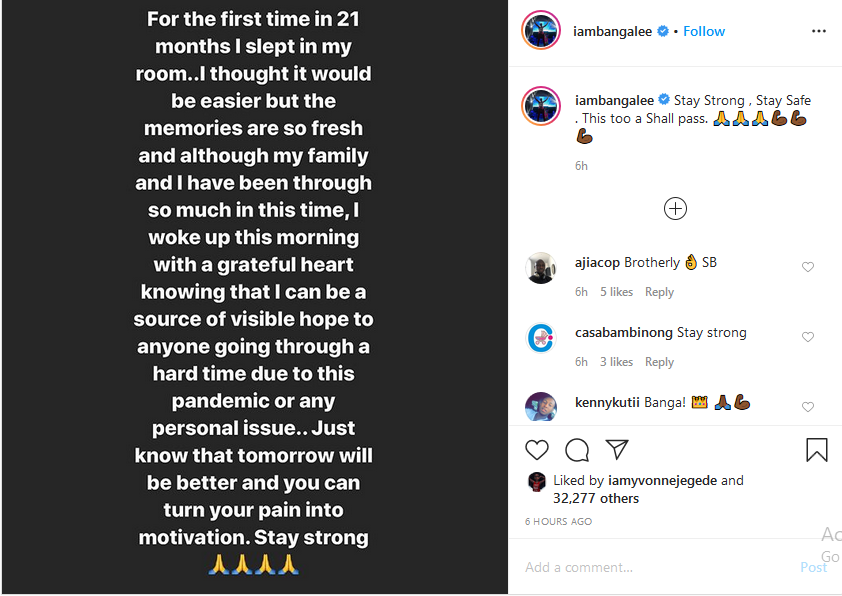 D'banj shares his post-traumatic experience after son's death