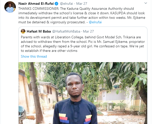 School proprietor accused of raping 9-year-old pupil in Kaduna