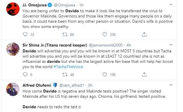 Davido should run a coronavirus test again, Nigerians react after Governor Makinde tested positive