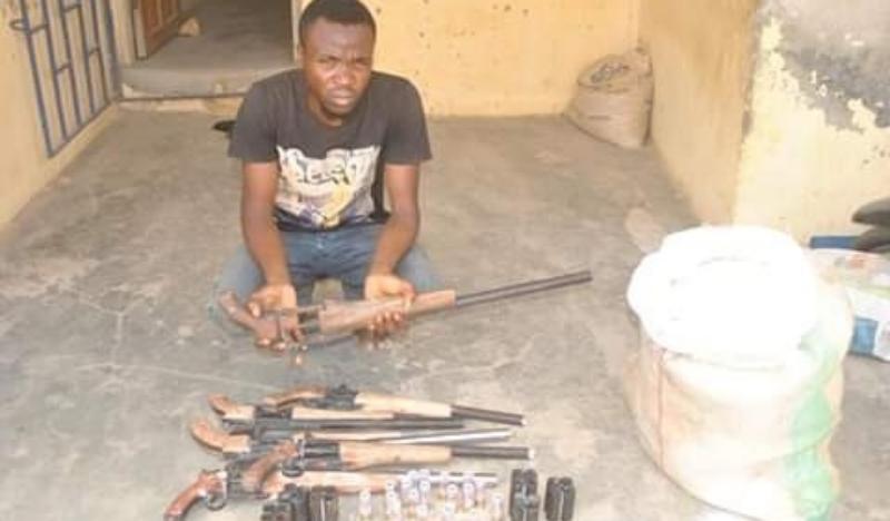 Man arrested with guns concealed in bag of Garri
