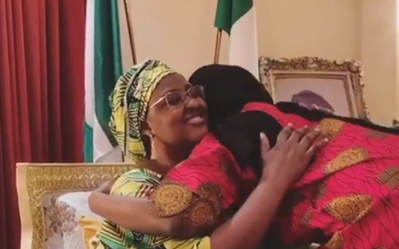 Aisha Buhari shares video of moments she reunited with her daughter, Hanan after 14 days in self-isolation