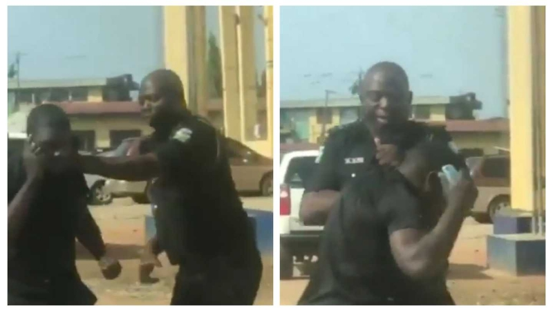 Police officer arrested for assaulting a ports worker who was picking up a friend in Lagos