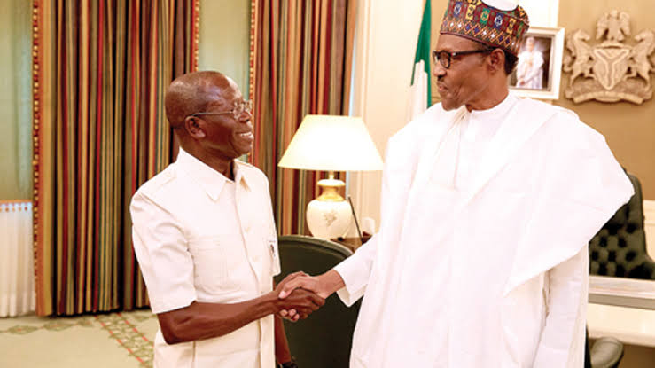 President Buhari Felicitates With Oshiomhole On His 68th Birthday