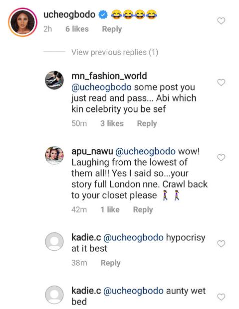 Uche Ogbodo mocks Tonto Dikeh as Stella Dimoko Korkus accuses her of eating poo in Dubai for money