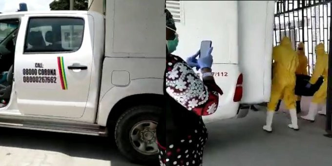 Moment NCDC officials moved corpse of man who died of Coronavirus at LUTH after lying about his travel history