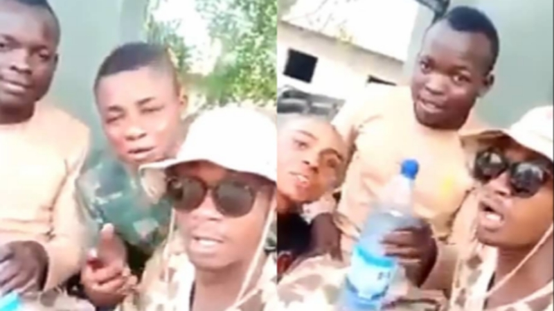 Another video of soldiers threatening Warri residents for attacking soldiers emerges