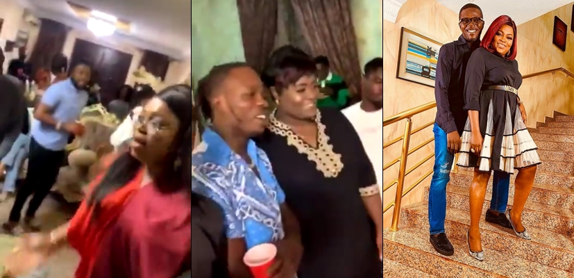 "Nigerians Call For Funke Akindele And Hubby's Arrest For ""crowded"" houseparty on his 43rd birthday yesterday April 4.  They React"