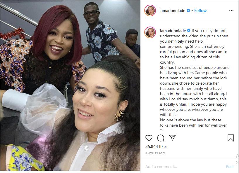 Adunni Ade reacts to Funke Akindele's arraignment