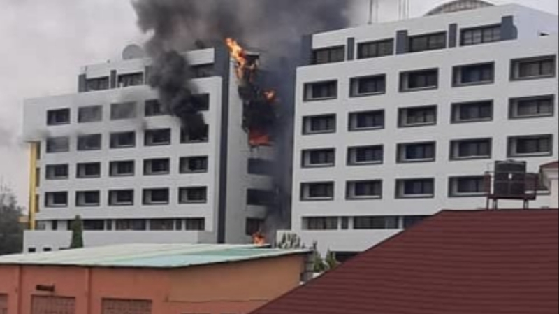 BREAKING: Fire Guts Office Of The Accountant General In Abuja