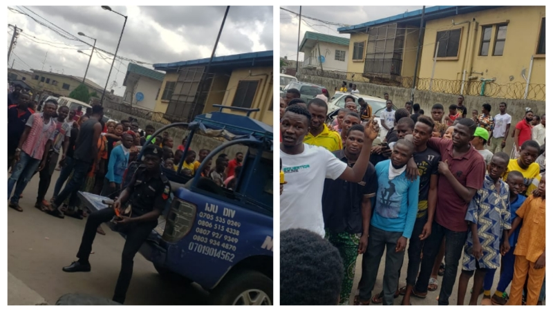 Naira Marley's fans defy lockdown, storm court to show support to him