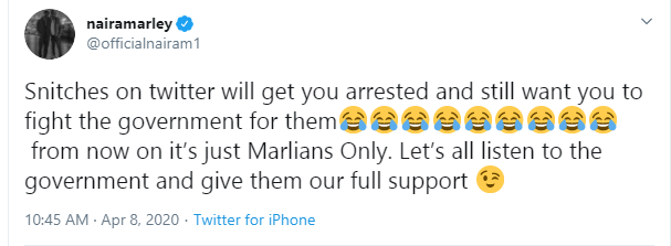 Snitches on Twitter, Naira Marley opens up after arrest for attending Funke Akindele's houseparty